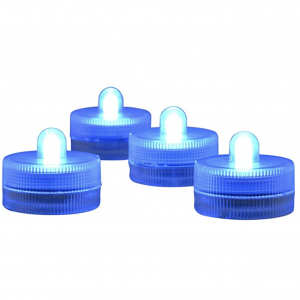 waterproof blue tea lights tealights