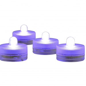 purple waterproof tealights tea light