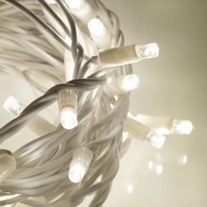 white rubber cool white fairy lights outdoor